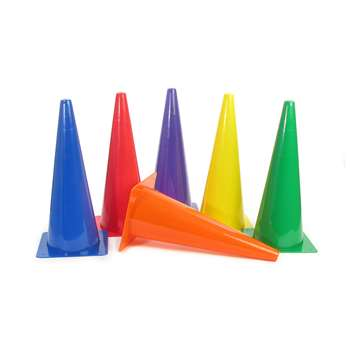 "Rigid Plastic Cones 18"" Set Of 6, AEPYTB022"