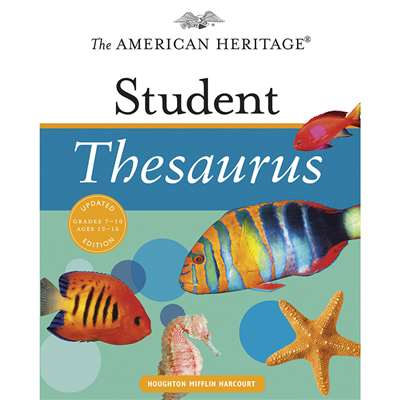 The American Heritage Student Thesaurus Updated Edition By Houghton Mifflin