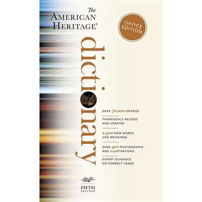 The American Heritage Dictionary Paperback Office Edition By Houghton Mifflin