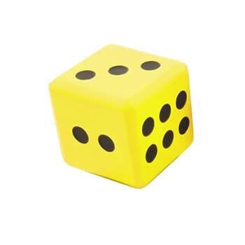 "Jumbo Dice 6"" Yellow, AHLJD15"