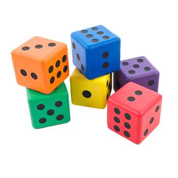 "Jumbo Dice 3 1/2"" Rainbow Set, AHLPJ18S"