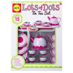 Lots Of Dots Tin Tea Set, ALE703D