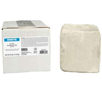 Amaco Air Dry Clay White 25 Lb By American Art Clay