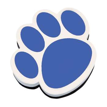 Magnetic Whiteboard Eraser Blue Paw By Ashley Productions