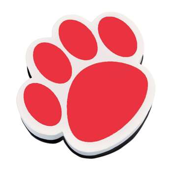 Magnetic Whiteboard Eraser Red Paw By Ashley Productions