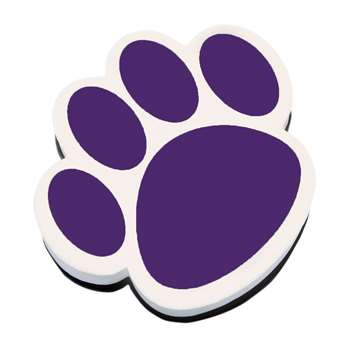 Magnetic Whiteboard Eraser Purple Paw By Ashley Productions