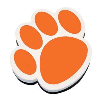 Magnetic Whiteboard Eraser Orange Paw By Ashley Productions