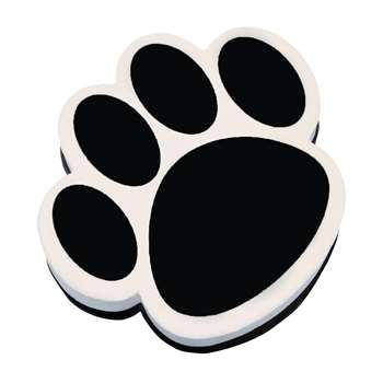 Magnetic Whiteboard Eraser Black Paw By Ashley Productions