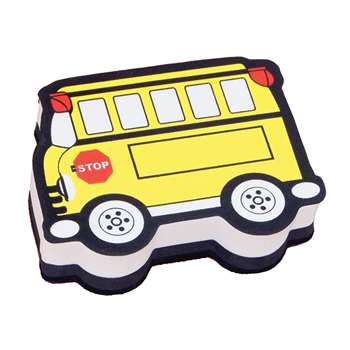Magnetic Whiteboard Eraser School Bus By Ashley Productions