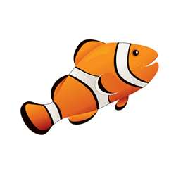 Magnetic Whiteboard Eraser Clown Fish 3-1/2 X 3-1/2 By Ashley Productions