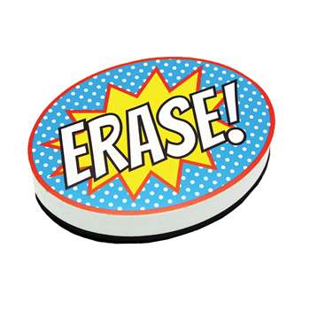 Superhero Erase Magnetic Whiteboard Eraser, ASH10051