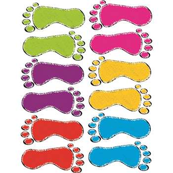 Die-Cut Magnet Scribble Footprints, ASH10058