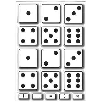Math Die Cut Magnets Dice, ASH10061