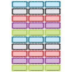 Die Cut Magnets Assorted Color Dots Nameplates, ASH10079