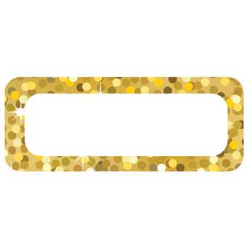 Die Cut Magnets Gold Sparkle Name Plates, ASH10082