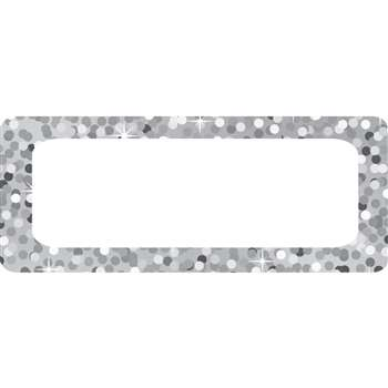 Die Cut Magnets Silver Sparkle Name Plates, ASH10083