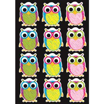 Die-Cut Magnet Scribble Owls, ASH10088