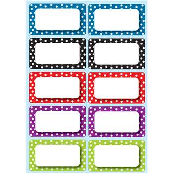 Die Cut Magnets Polka Dot Nameplates By Ashley Productions