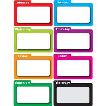 Shop Magnetic Time Organizers Color File Days Of Week - Ash10127 By Ashley Productions