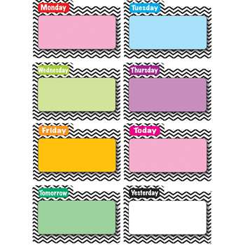 Shop Magnetic Time Organizers Black Chevron File Days Of Week - Ash10131 By Ashley Productions