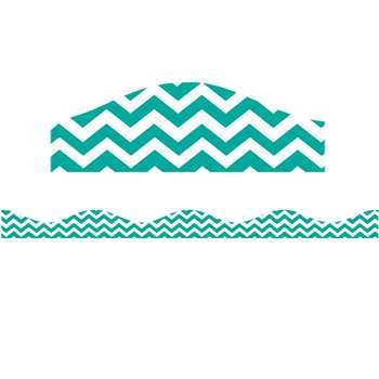 Shop Magnetic Border Turquoise Chevron - Ash10173 By Ashley Productions