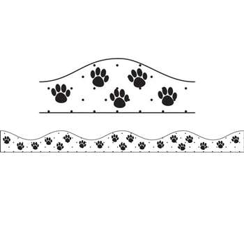 Magnetic Border Black Paws By Ashley Productions