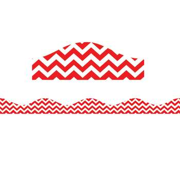Shop Magnetic Border Red Chevron - Ash10198 By Ashley Productions