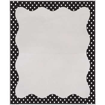 B/W Dots Border 3 1/2 X 5 Clear View Self Adhesive, ASH10409