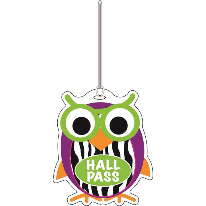 Colorful Owl Hall Pass By Ashley Productions
