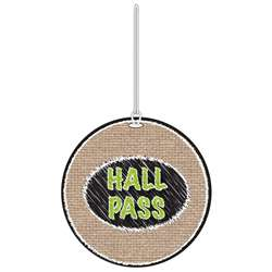 Burlap Scribble Hall Pass, ASH10458