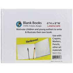 White Hardcover Blank Book 6-1/8 X 8-3/8 By Ashley Productions