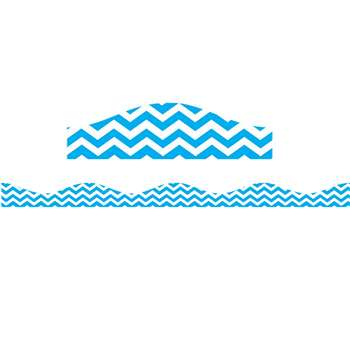 Big Magnetic Border Blue Chevron, ASH11120