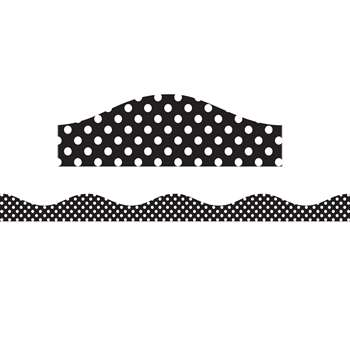Big Magnetic Border Black & White Dots, ASH11122