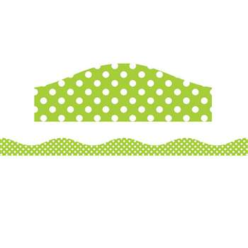 Big Magnetic Border Lime & White Dots, ASH11123