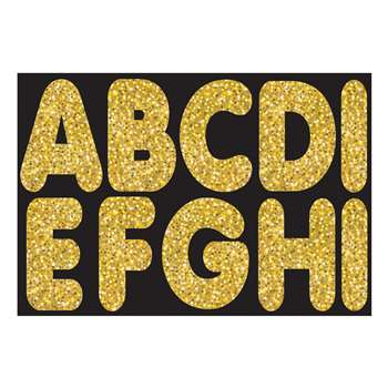 "Gold Sparkle 2-3/4"" Magnetic Letters, ASH17004"