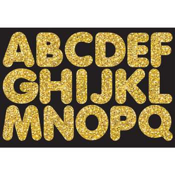 "Gold Sparkle 1-3/4"" Magnetic Letters, ASH17504"