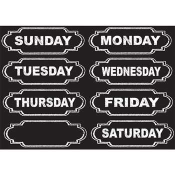 Die-Cut Magnets Chalkboard Days Of The Week, ASH19002