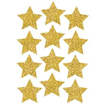 "Die Cut Magnets 3"" Gold Sparkle Stars, ASH30400"