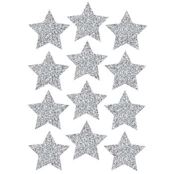 "Die Cut Magnets 3"" Silver Sparkle Stars, ASH30401"