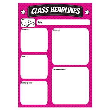 Class Headlines Large Magnetic Chart, ASH70007