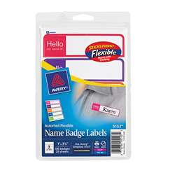 Self Adhesive Name Badges Mini Rect, AVE05153