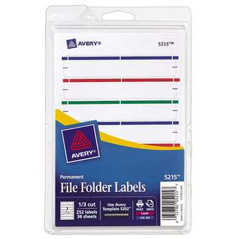 Avery Print Or Write Assorted File Folder Labels By Avery Dennison