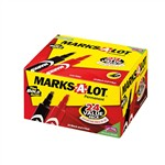 Marks A Lot Permanent Marker 24 Pk Regular Assorted Desk Style By Avery Dennison
