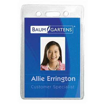 Name Badge Holder Vertical 12Pk By Baumgartens