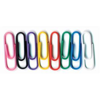 Vinyl Coated Paper Clips Jumbo Size 40Pk By Baumgartens