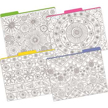 "Letter Size File Folders Color Me "" My Garden Mul, BCP1343"