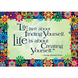 Life Is About Creating Yourself Poster By Barker Creek Lasting Lessons