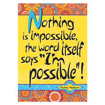 Poster - Nothing Is Impossible, BCP1833