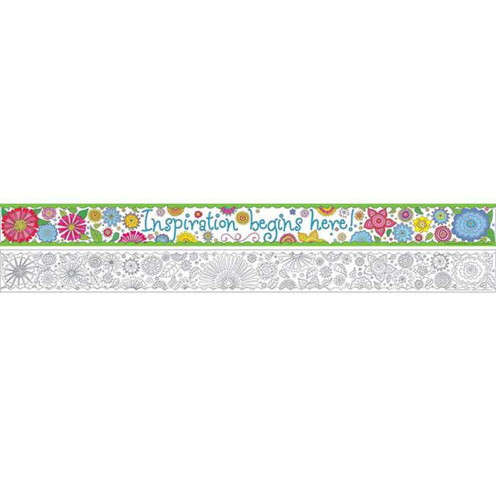 "Double Sided Border Color Me "" My Garden, BCP911"