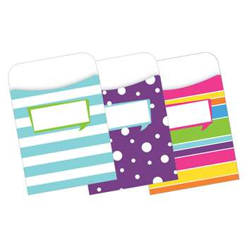 Peel & Stick Pockets Happy Multi Design Set, BCPLL1234
